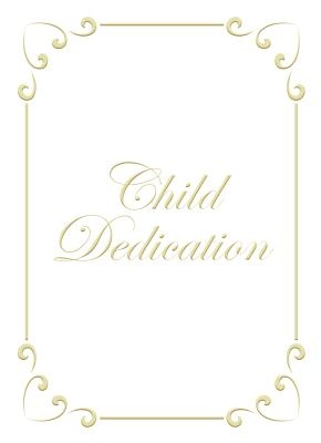Child Dedication Certificate