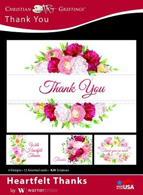 Boxed Cards Thank You Heartfelt Thanks