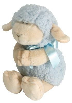 Lamb Praying Blue