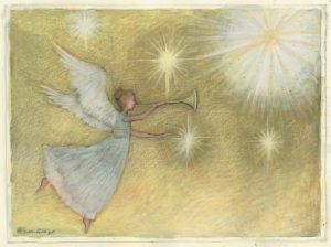 Classic Boxed Cmas Cards- Golden Angel