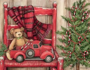 Bear in a Chair Boxed Christmas Cards