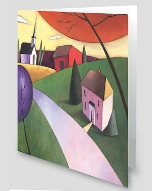 Countryside Church Scene Greeting Cards [With Envelope]