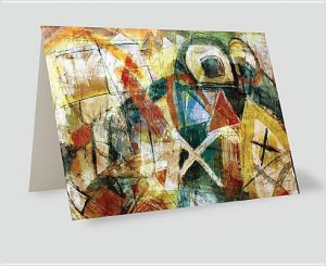 Absract Crosses Painting Greeting Cards [With Envelope] 1