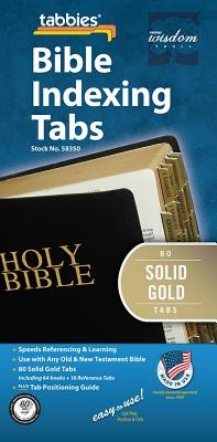 Bible Tabs - Solid Gold - Old: Classic Solid Gold Bible Tabs