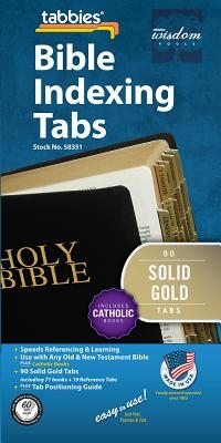 Bible Tabs - Solid Gold - Old: Classic Solid Gold Catholic Bible Tabs