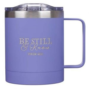 Mug Stainless Steel Camp Be Still & Know - Psa 46:10