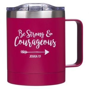 Mug Stainless Steel Camp Be Strong & Courageous - Jos 1:9