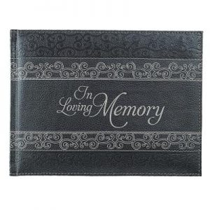 Guest Book in Loving Memory Charcoal