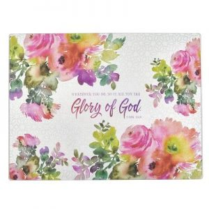 Cutting Board Glass Glory of God 1 Cor 10: 31