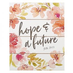 Wall Plaque Hope & Future