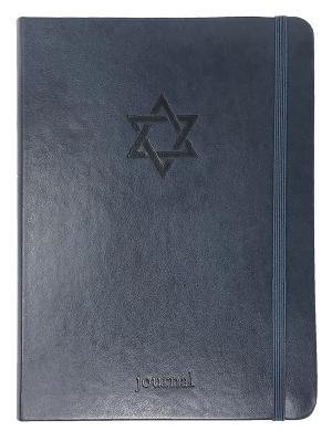 The Star of David Essential Journal (Navy Leatherluxe(r))