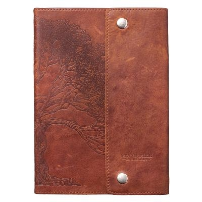 Journals Classic Full Grain Genuine Leather W/Buttons Brown