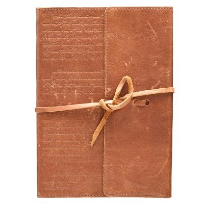 Journals Classic Full Grain Genuine Leather W/Wrap Brown