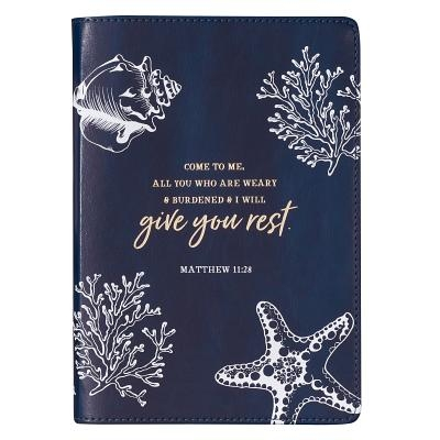 Journals Slimline Lux-Leather Flexcover Give You Rest Blue