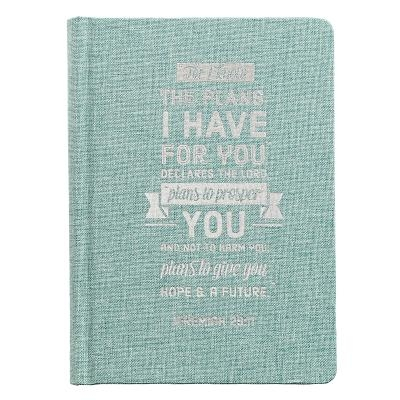 Journals Hardcover Linen Plans Teal