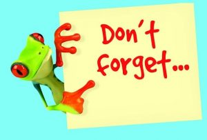 Don't Forget Frog Postcards