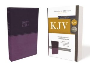 Kjv, Value Thinline Bible, Compact, Leathersoft, Purple, Red Letter Edition, Comfort Print